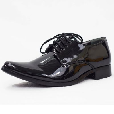 BLACK PATENT GEORGE SHOE-0