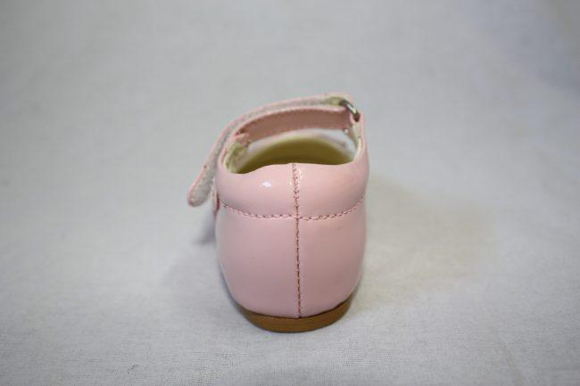 Girls Patent Pink Shoe With Diamond Strip-1584