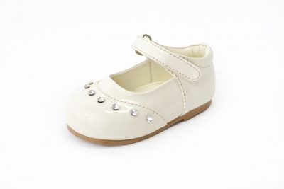 Girls Early Steps Patent Cream Fairy Shoe-0