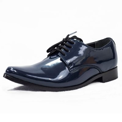 NAVY PATENT GEORGE SHOE-0