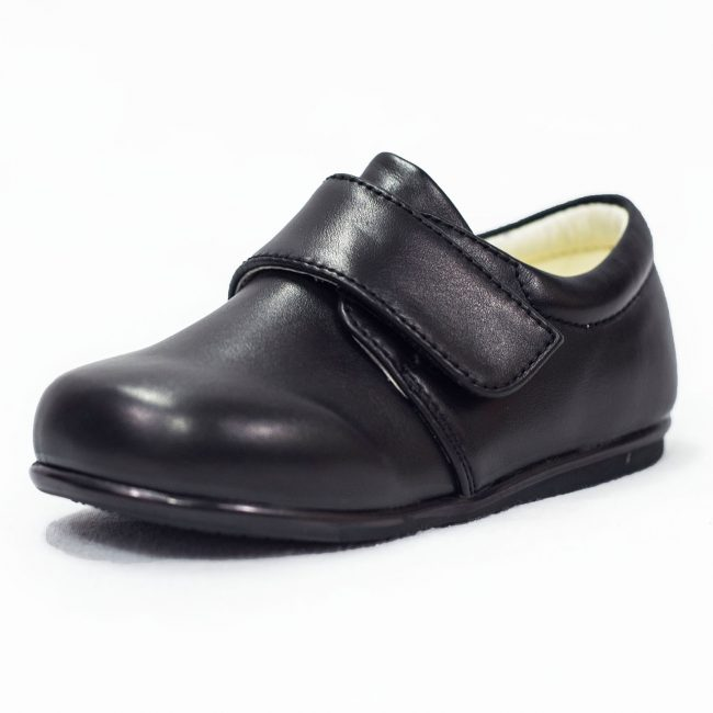 BOYS EARLY STEPS PRINCE SHOES IN MATTE BLACK-0