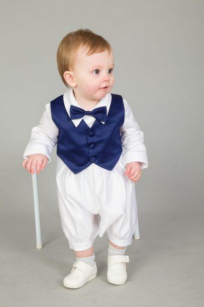 3 Piece Christening Suit Navy-0