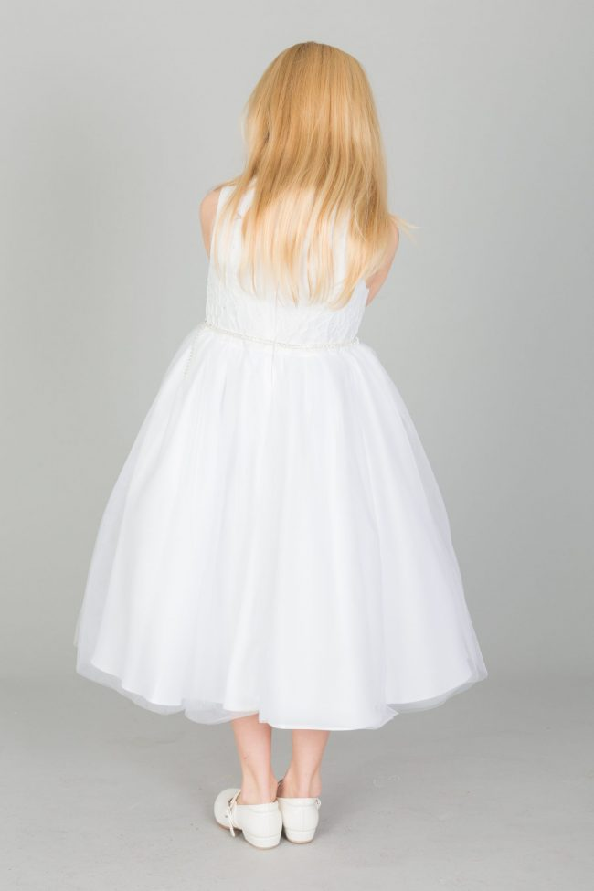 Girls Emboss Design with Sparkles in WHITE-1634