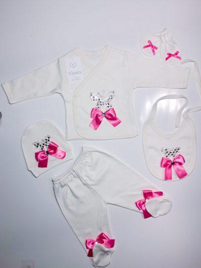 Girls 5pc Hot Pink Set -0