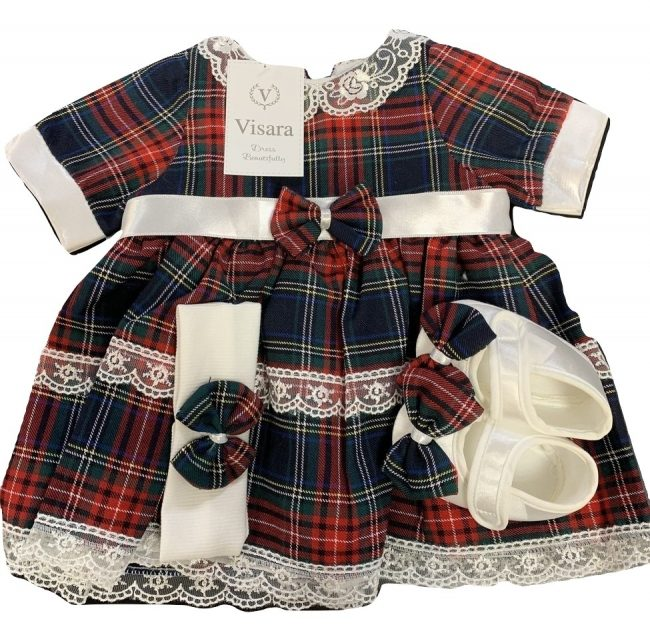 Girls Tartan Dress-0