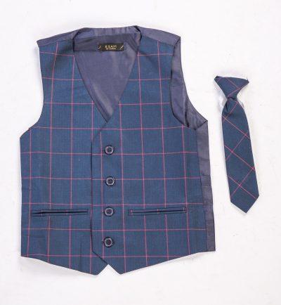 Check Waistcoat set-0