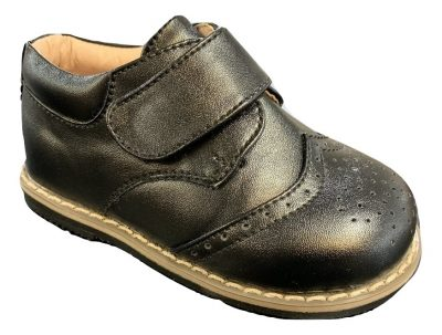 Boys Early Steps Black Brogue Derby Shoes-0