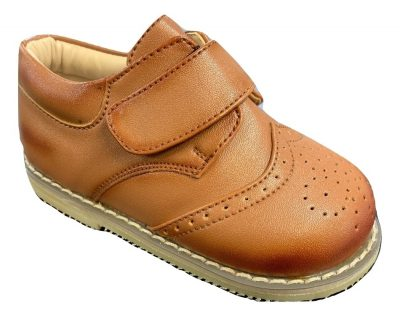 Boys Early Steps Brown Brogue Derby Shoes-0