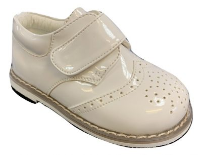 Boys Early Steps White Brogue Derby Shoes-0