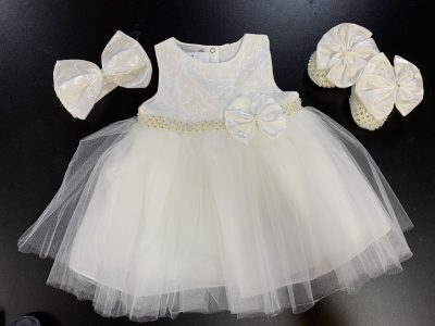Girls Ivory Dress-0