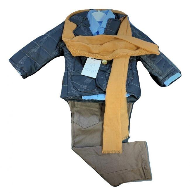 Boys 5pc Jacket Smart Casual Wear-1788
