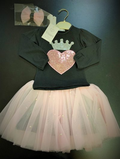 Girls tutu skirt set-0