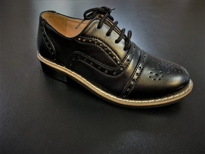 Oxford Boys Shoes Black-0
