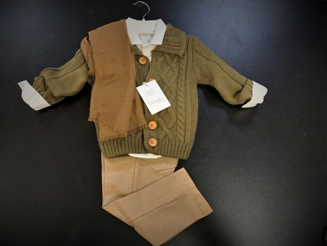 Boys 5pc Cardigan Smart Casual Wear-1800