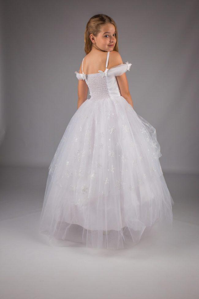 Girls White Communion Dress-1744