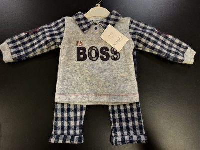 Boys Navy Boss Set-0