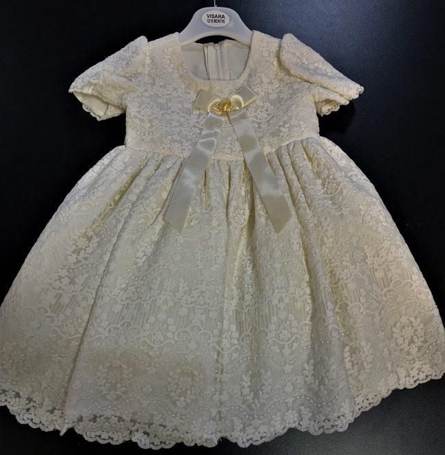 VIsara Dress in Ivory-0