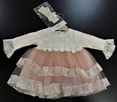 Girls 2pc Dress Dusty Pink-0